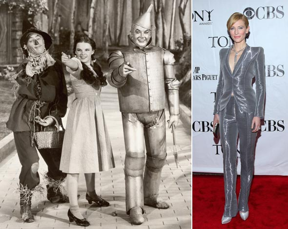 wizard of oz scarecrow dorothy tin man cate blanchett silver suit 2010 Tony Awards