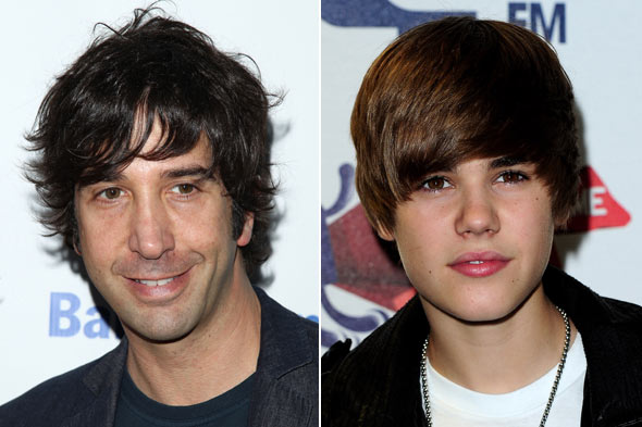 David Schwimmer Justin Bieber matching hair