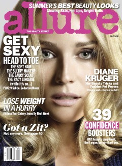 diane kruger allure july 2010 cover