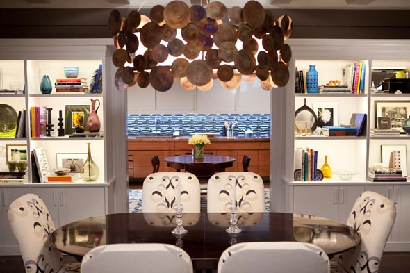Dining table from Big and Carrie's dinning room Alan Moss StudiosNew York