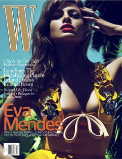 Eva Mendes W Magazine July 2010 yellow bikini