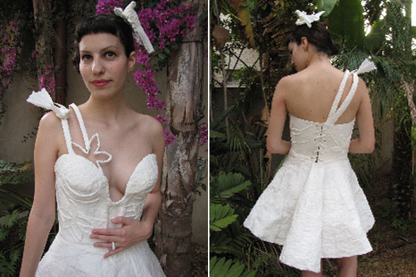 galit zeierman toilet paper wedding dress 2010 winner front back