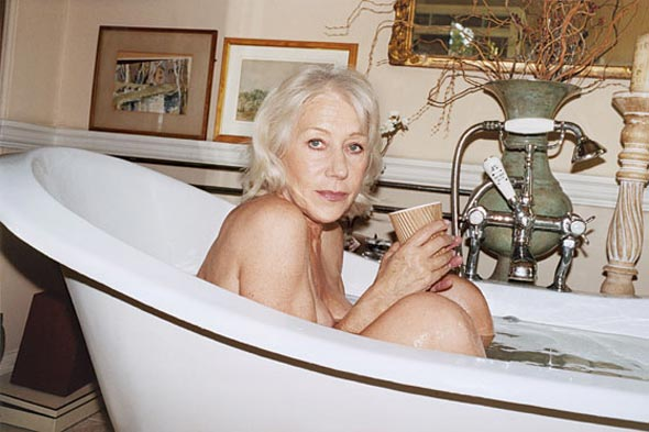 Helen Mirren nude bathtub New York Magazine