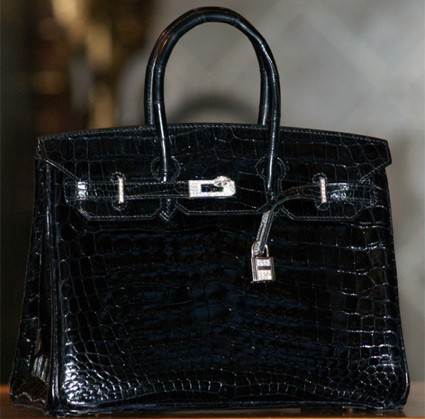 hermes birkin bag diamond special edition black crocodile