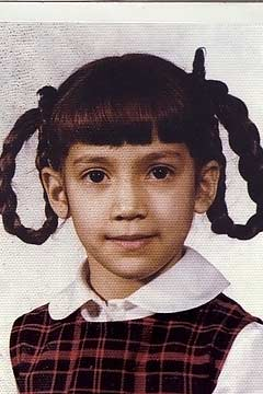 Jennifer Lopez Pippi Longstocking braids kid schoool pic unifrom