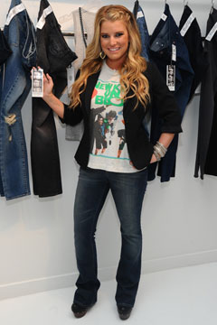 jessica simposn jeans line denim new kids tee blazer clogs