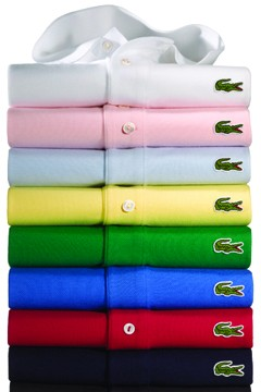 Lacoste Izod polo shirts multicolor stack