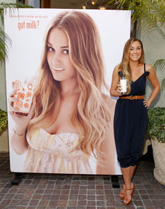 Lauren Conrad blue jumper tan heels Got Milk poster