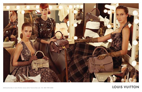 Louis Vuitton Fall 2010 Ad Campaign Christy Turlington Natalia Vodianova Karen Elson