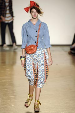 marc by marc jacobs spring 2010 runway headbands harem pants