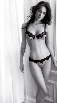 megan fox emporio armani underwear ad bra and panties 