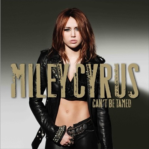 Miley Cyrus can't be tamed album cd cover leather jacket