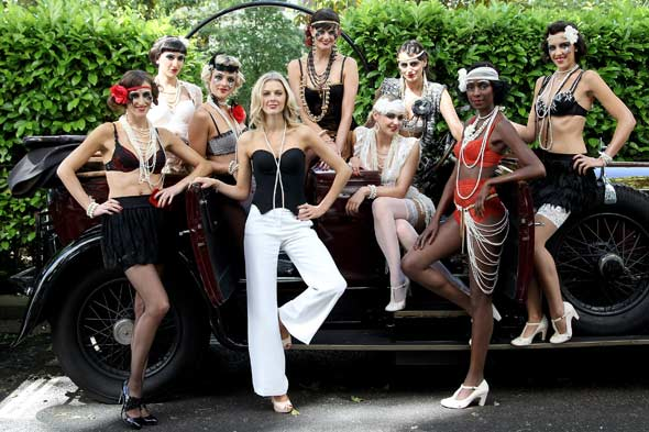 lingerie francaise models underwear cars london streets flapper