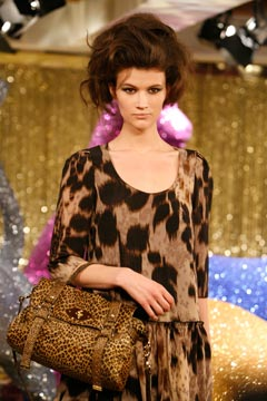 Mulberry Fall 2010 leopard print top matching bag