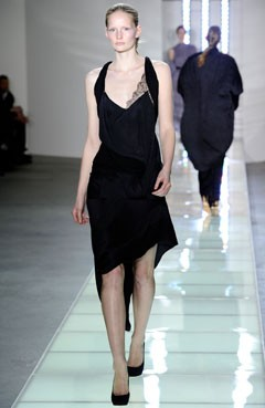 Preen Fall 2010 runway black dress