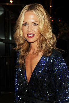 rachel zoe blue black sequins red lips
