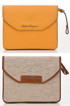 salvatore ferragamo iPad cases orange brown