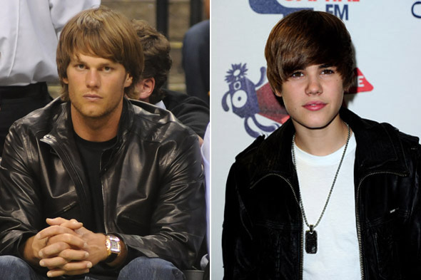Tom Brady Justin Bieber Hair at NBA finals game