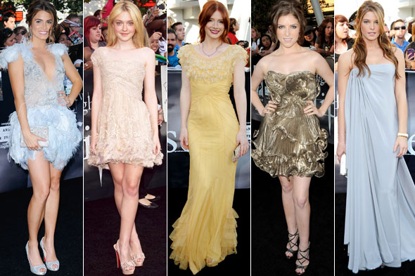 Anna Kendrick Nikki Reed Dakota Fanning Bryce Dallas Howard Ashley Greene Twilight Eclipse premiere los angeles.