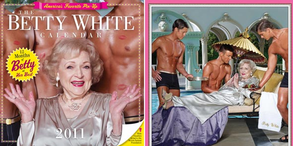 'The Betty White Calendar 2011 shirtless men animal charity