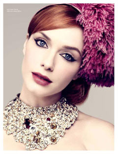 Mad Men Christina Hendricks LA Times Magazine statement necklace