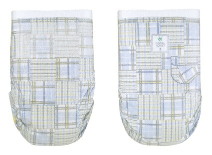 cynthia rowley madras plaid diapers pampers blue yellow white