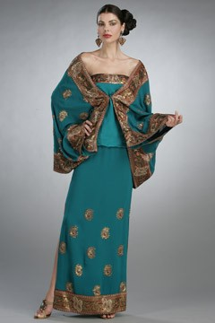 'Eat, Pray, Love' clothes turquoise vintage Indian sari
