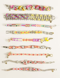 Frieda and Nellie colorful beaded bracelets J.Crew