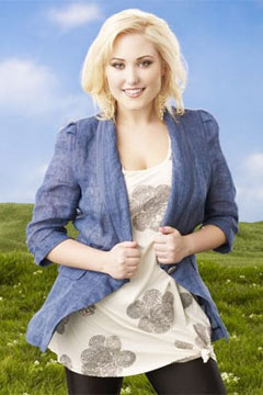 Hayley Hasselhoff Huge denim blazer
