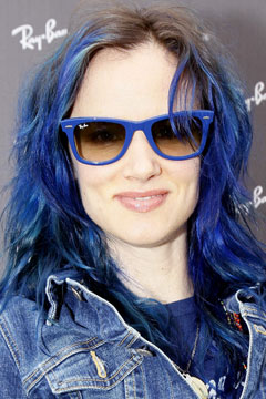 Juliette Lewis Blue Hair Dye