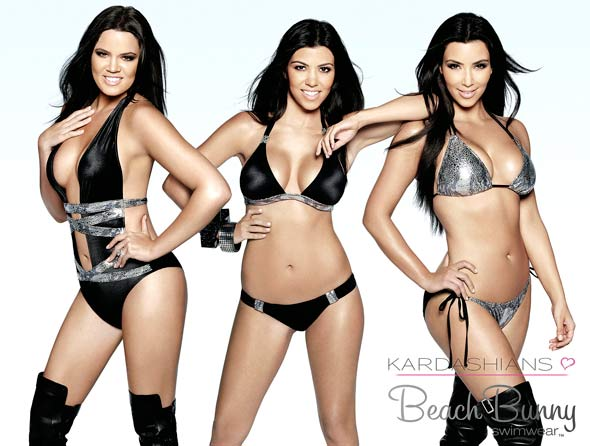 Khloe Kourtney KIm kardashian beach bunny swimwear