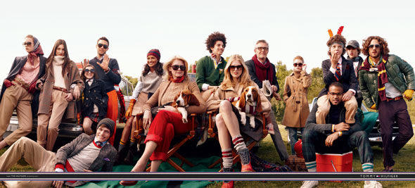 tommy hilfiger fall 2010 ad campaign the ultimate tailgate models fall clothing