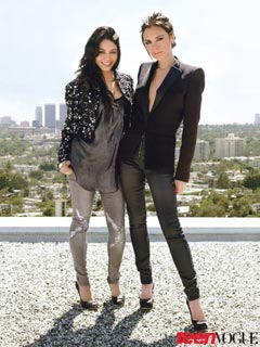 vanessa hudgens victoria beckham teen vogue august 2010 glittery jeans