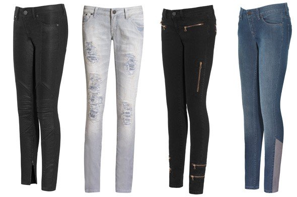 Victoria Beckham denim Fall 2010 jeans collection NET-A-PORTER skinny zipper cord black faded