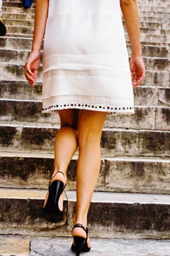 woman short dress vatican