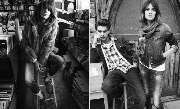 Alexa Chung Fall 2010 ad campagin for Pepe Jeans London