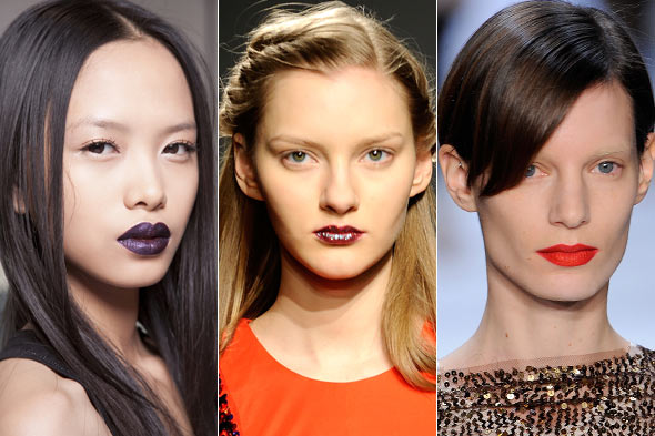 Bold lips Fall 2010 Peter Som Doo. Ri Richard Chai