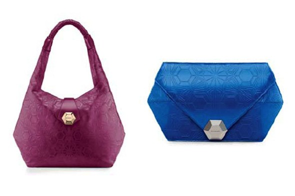 Matthew Williamson handbag collection Bulgari blue fuschia