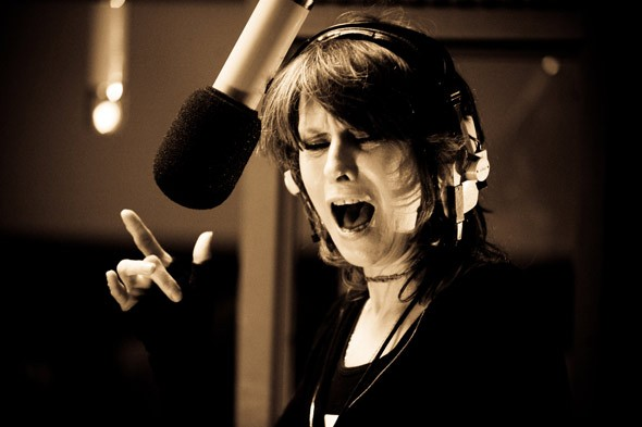 Chrissie Hynde singing recording studio