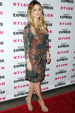 Drew Barrymore Nylon Express Jean Party Metallic dress