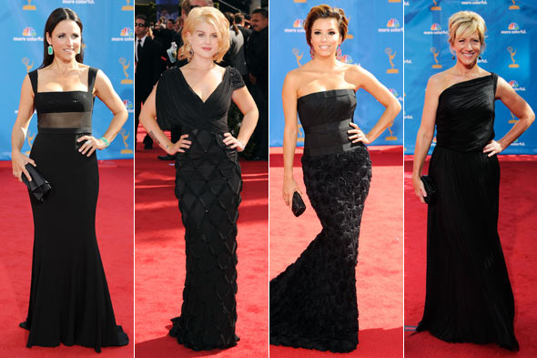 Emmy Awards 2010 Julia Louis-Dreyfus Kelly Osbourne Eva Longoria Edie Falco long black dresses
