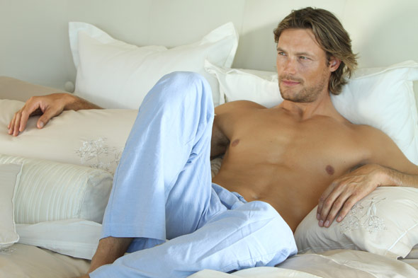 Gabriel Aubry Charisma Fall 2010 ad campaign shirtless bed