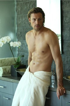 Gabriel Aubry Charisma Fall 2010 ad campaign shirtless towel