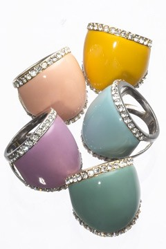 Enamel cocktail rings Glamour Jewelry Collection for HSN