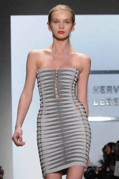 bandage dress Fall 2010 Herve Leger runway
