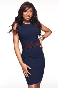 Jennifer Hudson tight blue dress InStyle Makeover issue