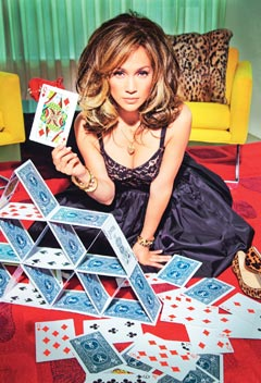 J.Lo plays cards Glamour Magazine September 2010 issue