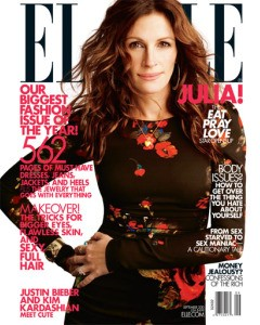 Julia Roberts Dolce & Gabbana floral top Elle September 2010