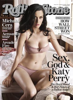 Katy Perry Rolling Stone September 2010 cover underwear