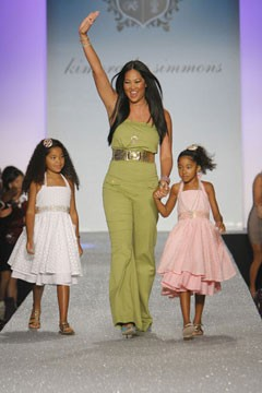Kimmora Lee Simmons Baby Phat fashion show runway daughters